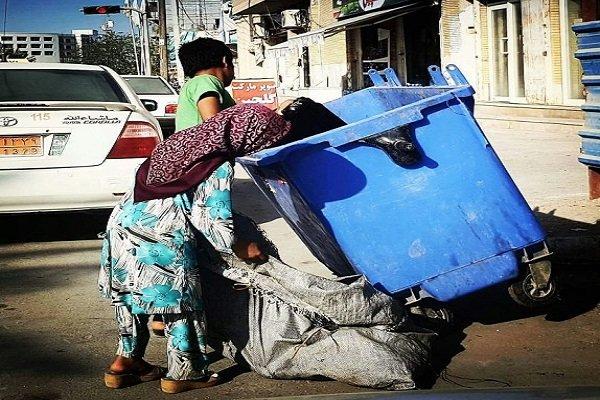 یک سوم زباله گردان را کودکان تشکیل می دهند/سهم کودکان ازاین درآمد